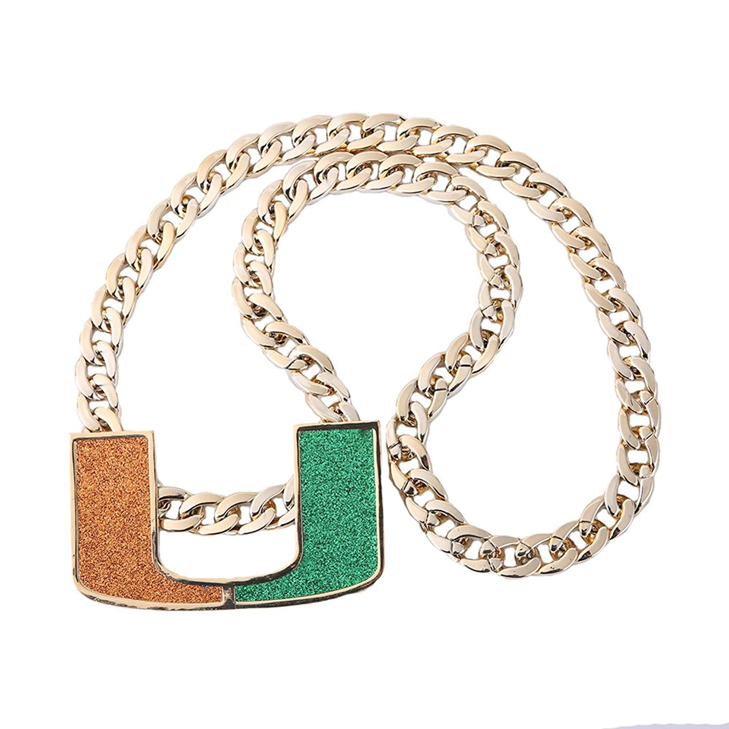 Miami Turnover Chain Replica Gold plated