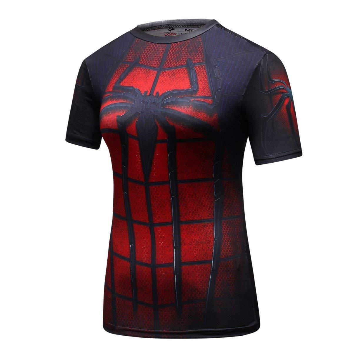 Women's Spiderman Compression Tee Shirt