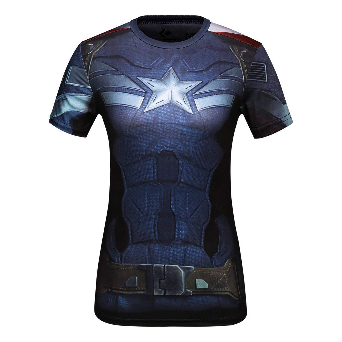 Captain American women's compression shirt- front side