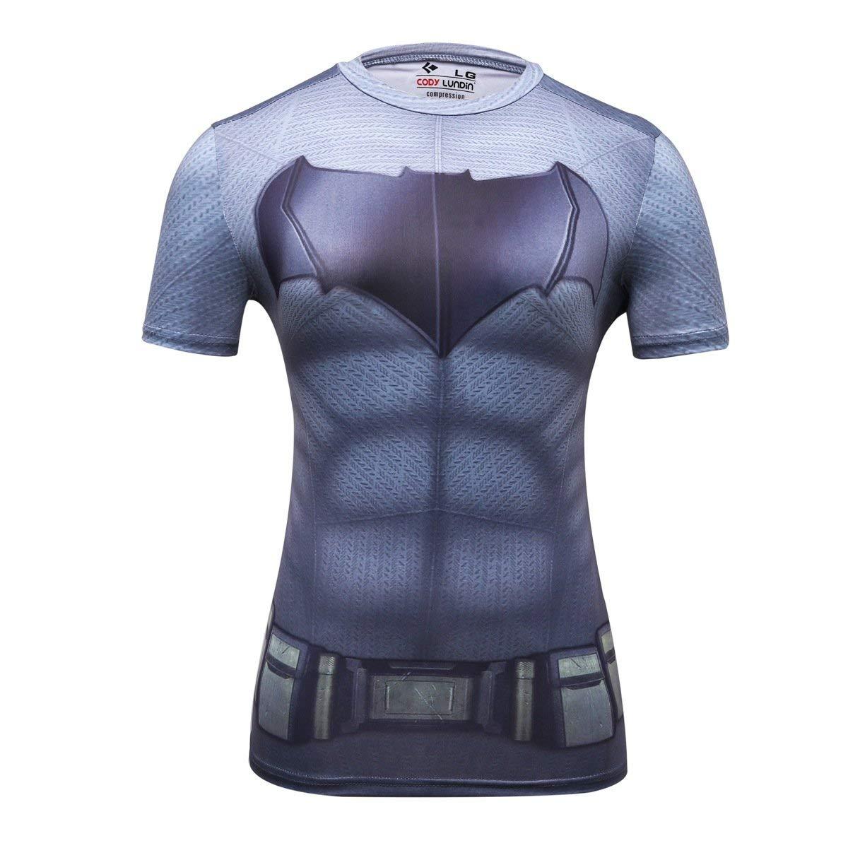 Women's Batman superhero compression shirt