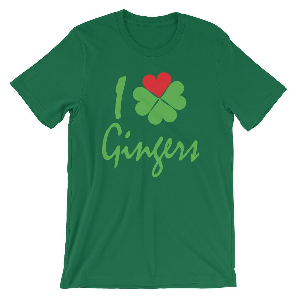 I Heart / Shamrock Gingers - Saint Patricks Day Shirt for Redheads