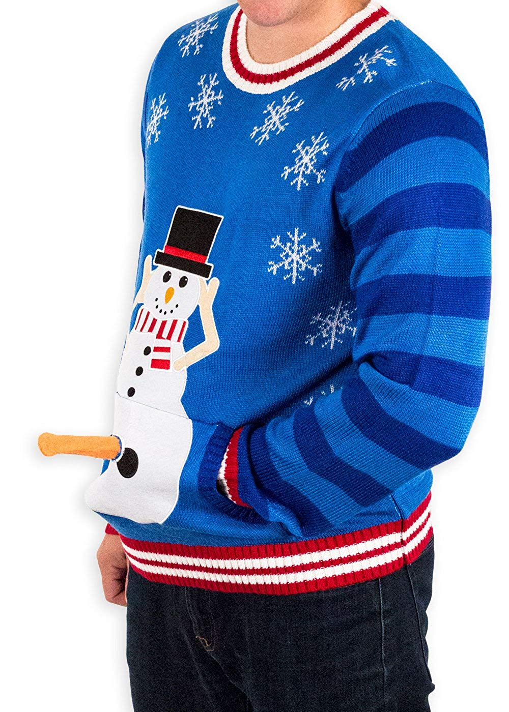 Naughty Christmas Sweater With 3D carrot erection