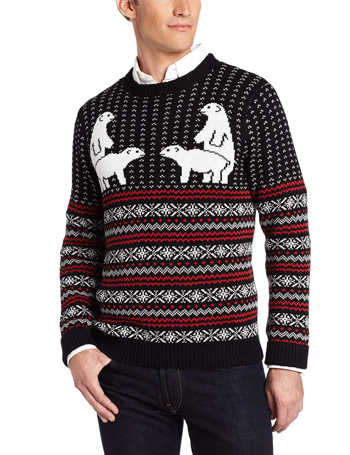 Dirty humping polar bears ugly Christmas sweater
