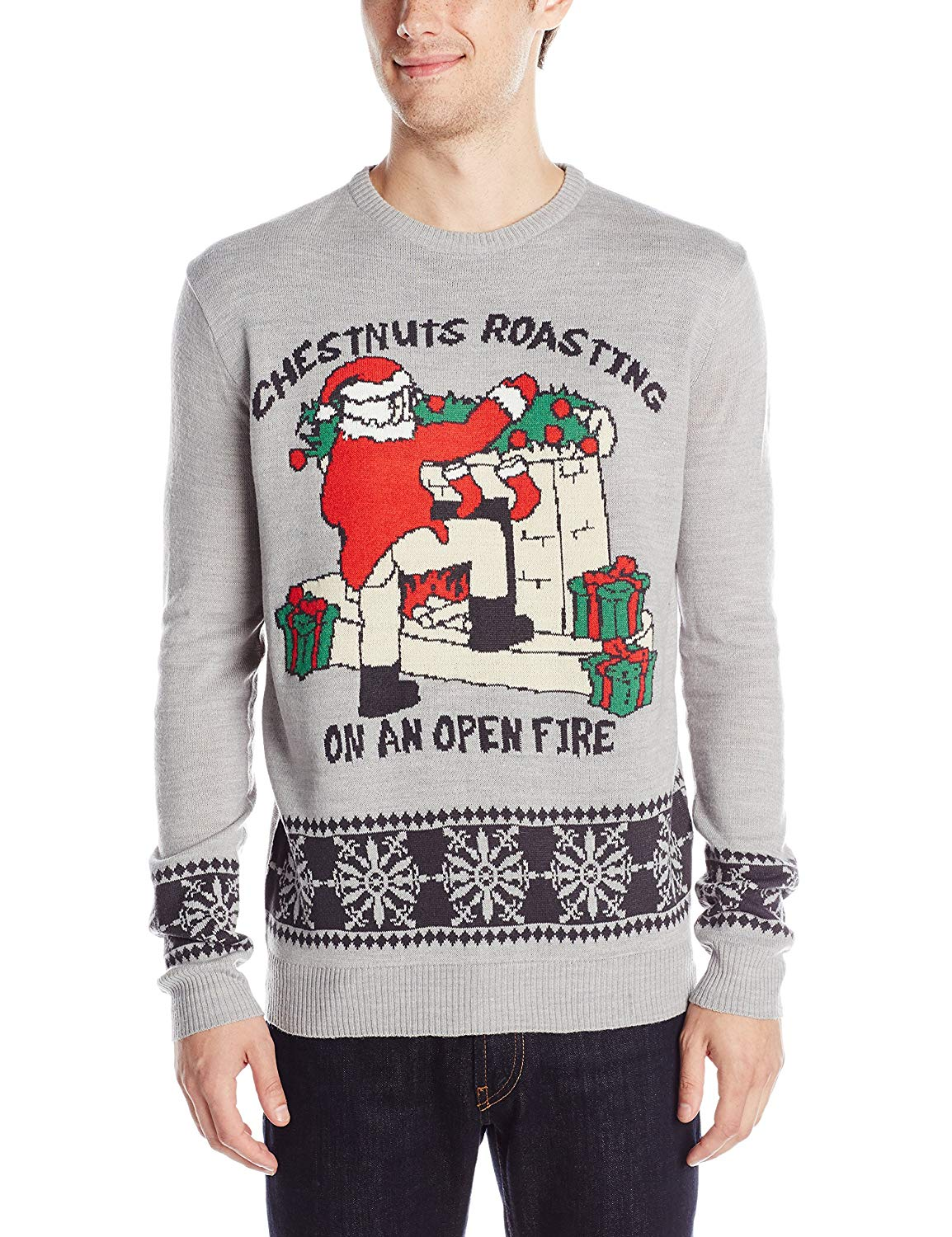 Chestnuts Roasting Ugly Christmas Sweater
