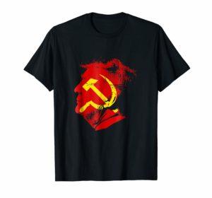 Anti-Trump Shirt - Russian Face hammer and sickle