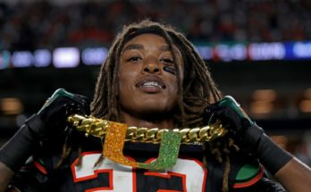 Miami Hurricanes Turnover Chain at the Orange Bowl in 2018