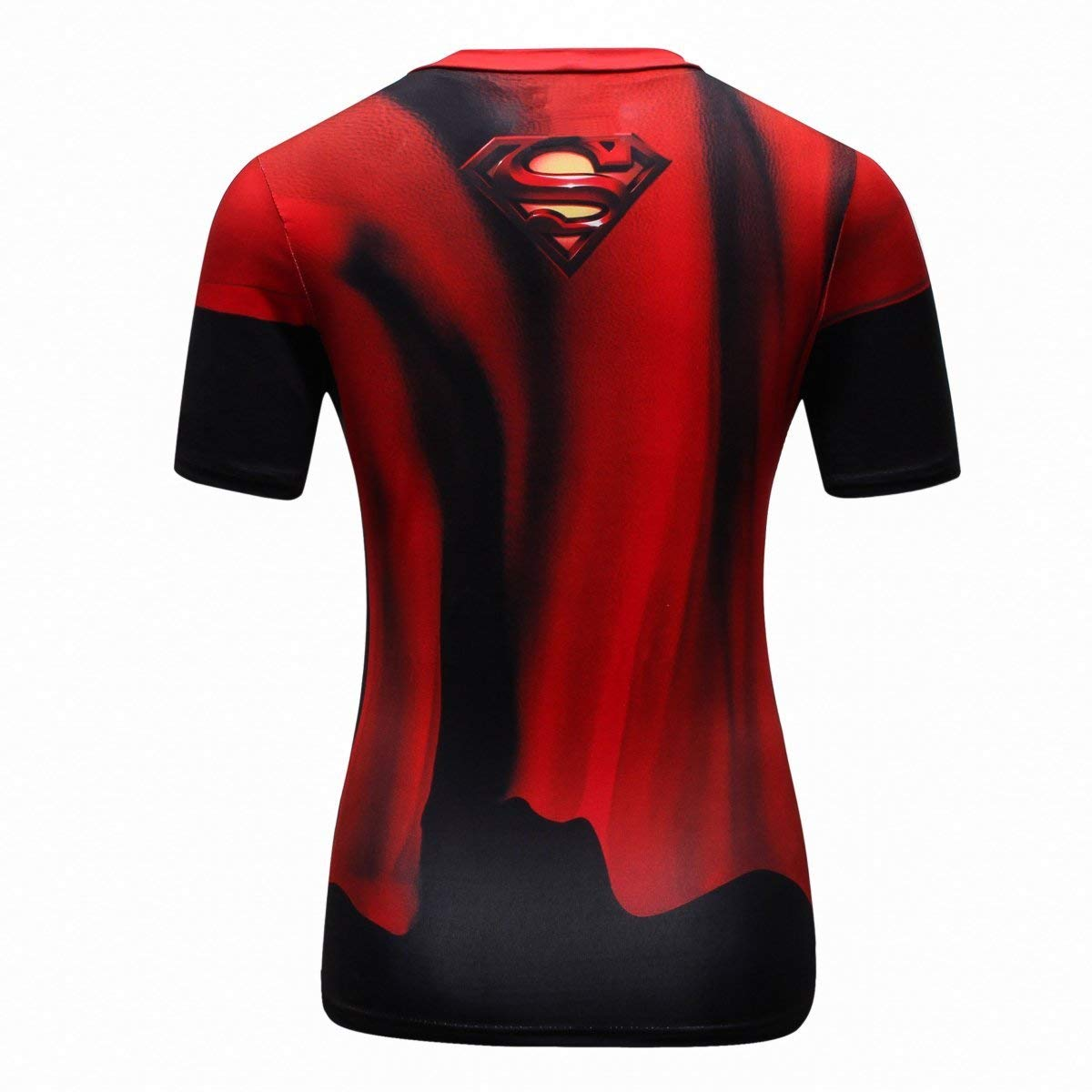Superman compression shirt for women - back with cape