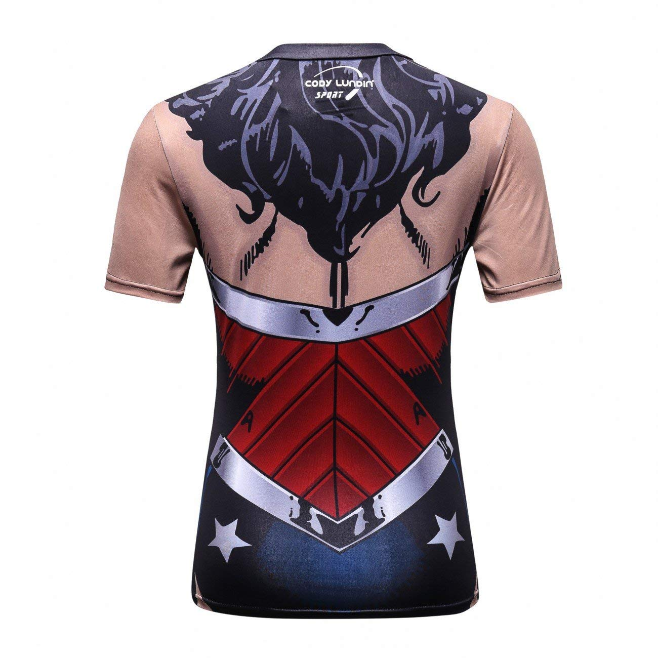 Wonder Woman compression tee shirt - back side
