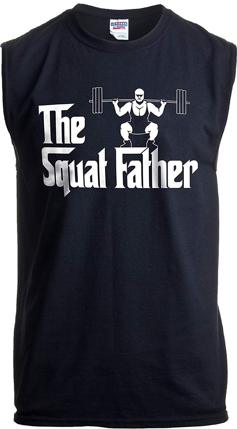 The Squatfather funny workout tank top