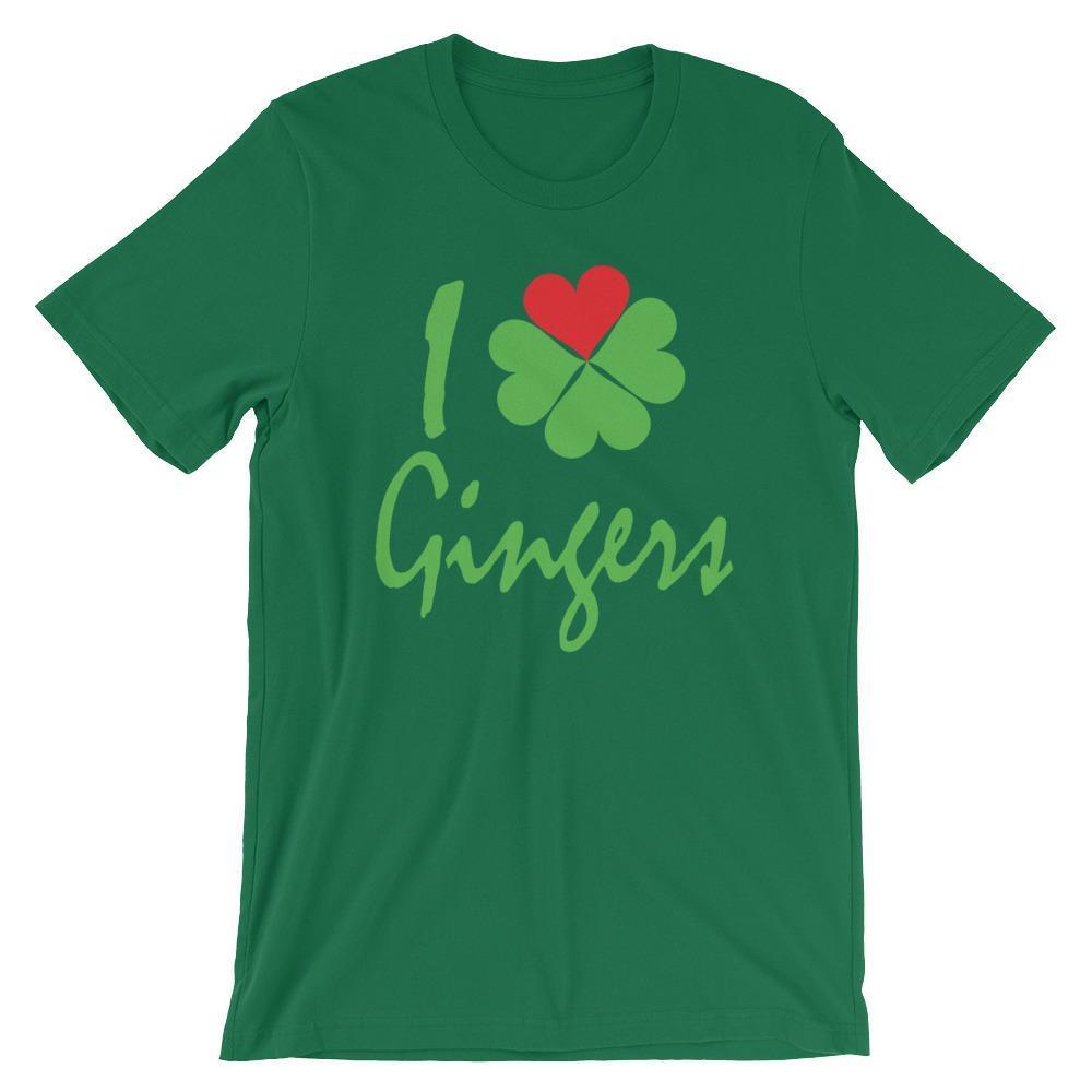 I Heart / Shamrock Gingers - Saint Patricks Day Shirt for Redheads