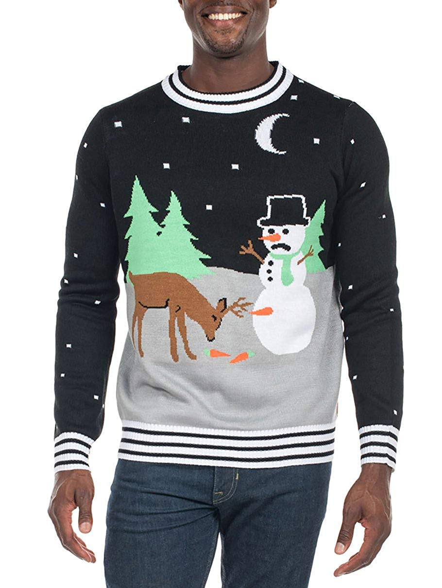 Funny Ugly Christmas Sweater - Frosty the Snowman's Nightmare