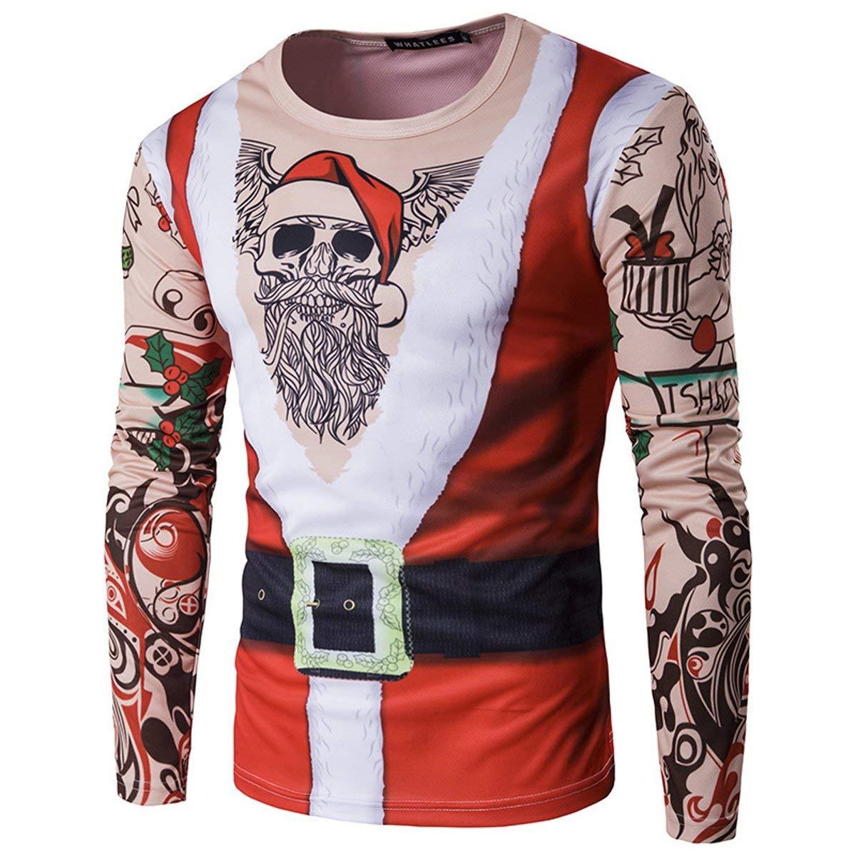Biker Gang Tattoo Santa Christmas Sweater