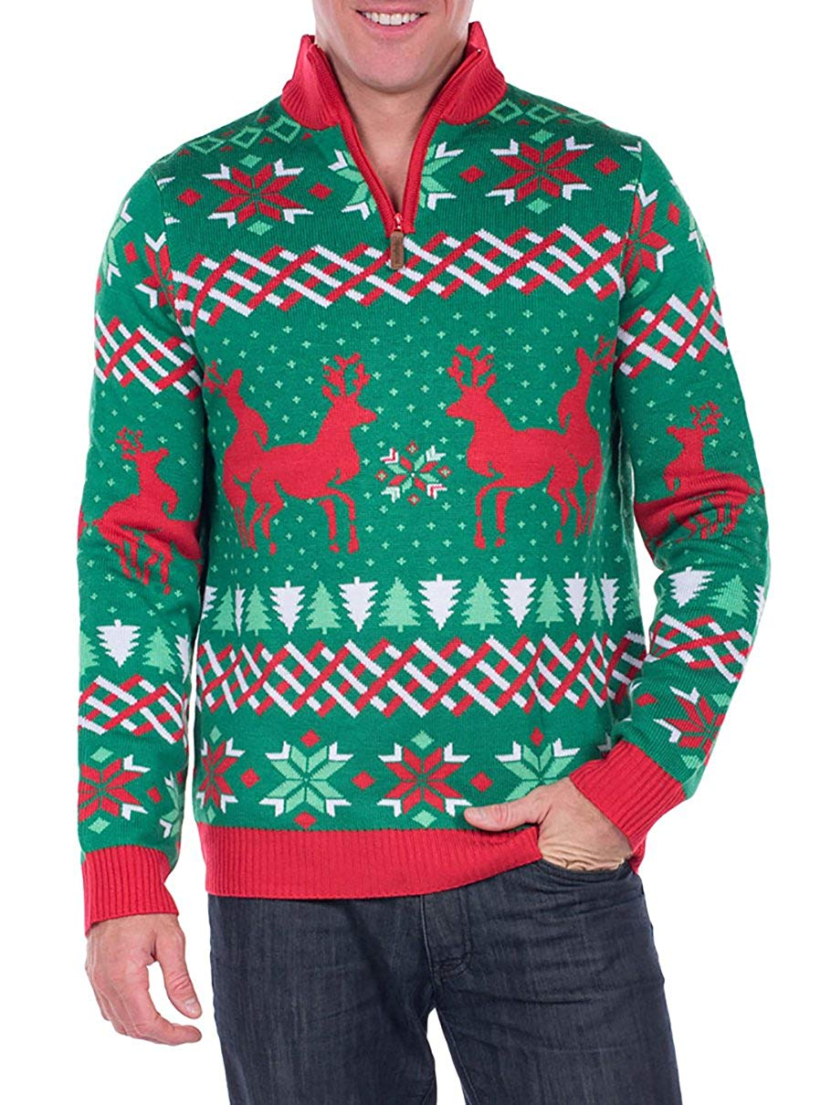 Funny Humping Reindeer Ugly Christmas Sweater