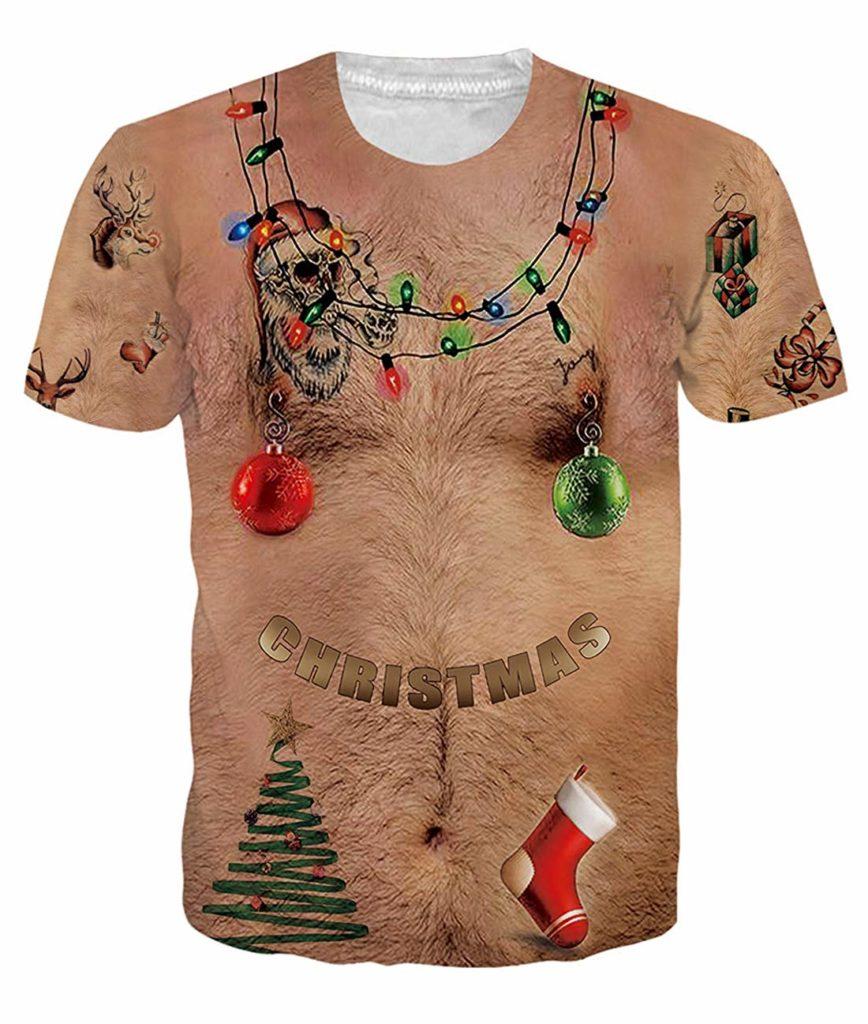 3D Print Nude Body Christmas Shirt