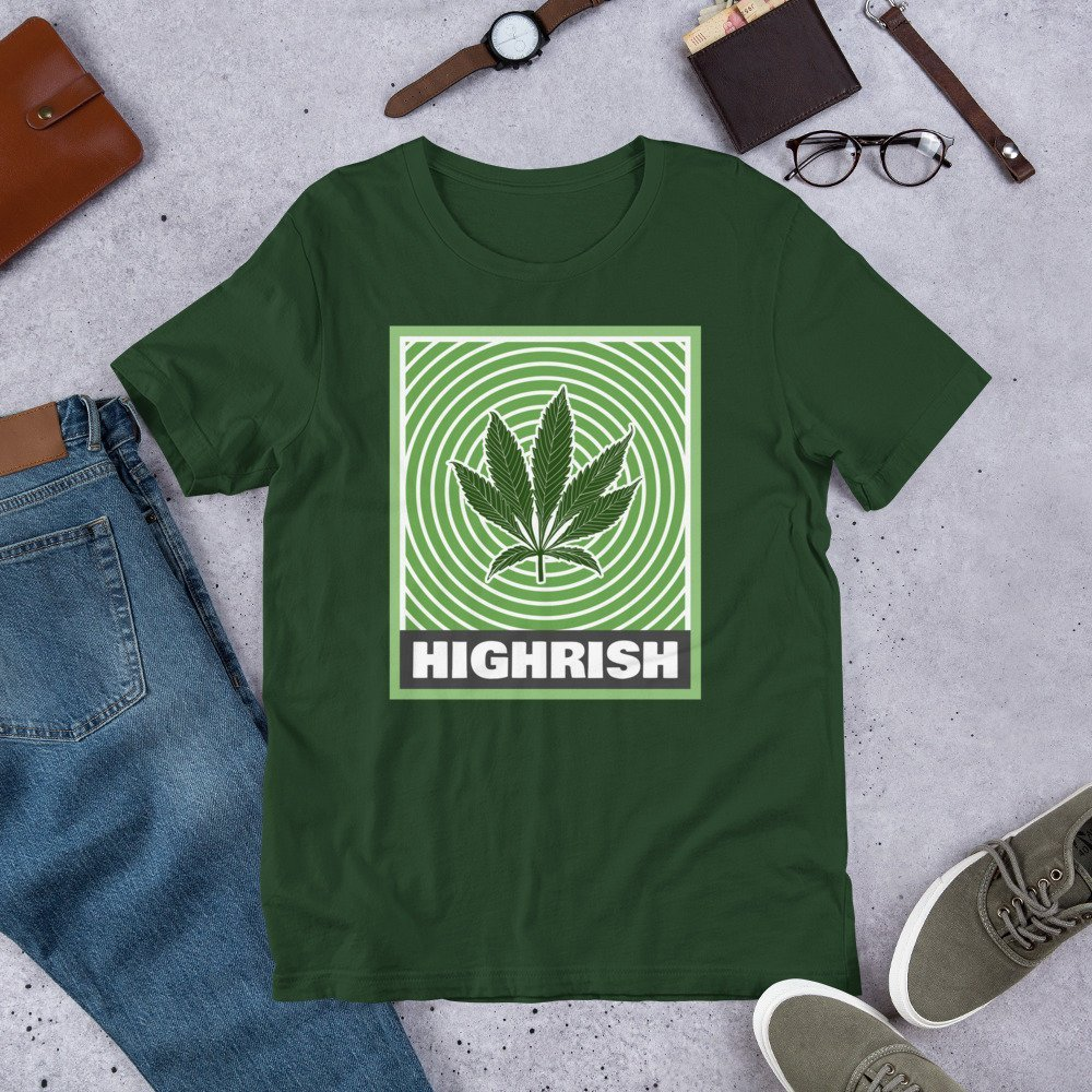 Highrish - St Patricks Day Weed Shirt for Marijuana Smokers