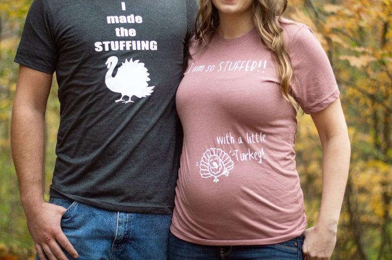 inappropriate husband wife thanksgiving pregnancy shirts